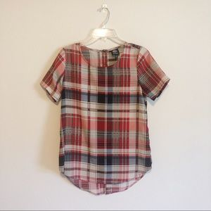 Bobeau Blouse plaid XS